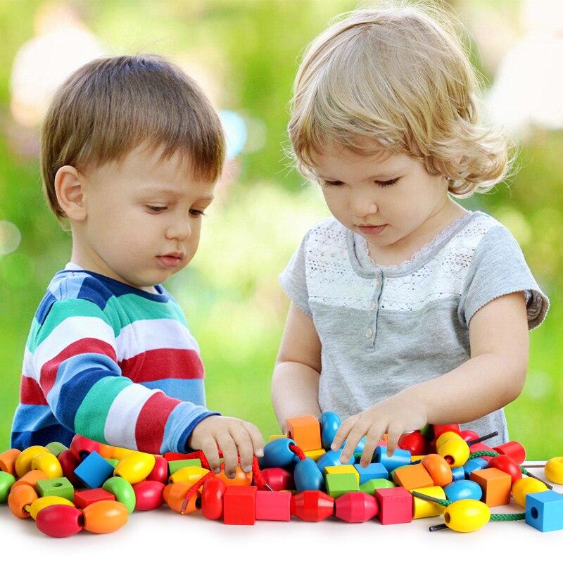 Beaded Toys Puzzle Boy Baby Beaded Thread Children Intelligence Development Girl