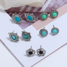 Bohopan 5Pairs/Set Elegant Fashion Women Stud Earrings Set Simple Personality For Water Droplet Gift