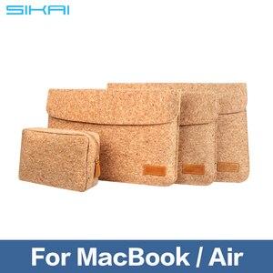 Image 5 - SIKAI, bolsa de manga de corcho para MacBook Air 11 12 13 pulgadas, bolsa de cuero suave de madera para Macbook, funda para MacBook
