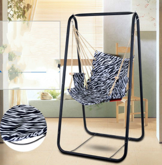 Swing Hammock Chair Indoor Black Leather Accent High Quality Home Portable Student Dormitory Basket Balcony Outdoor Adult ...