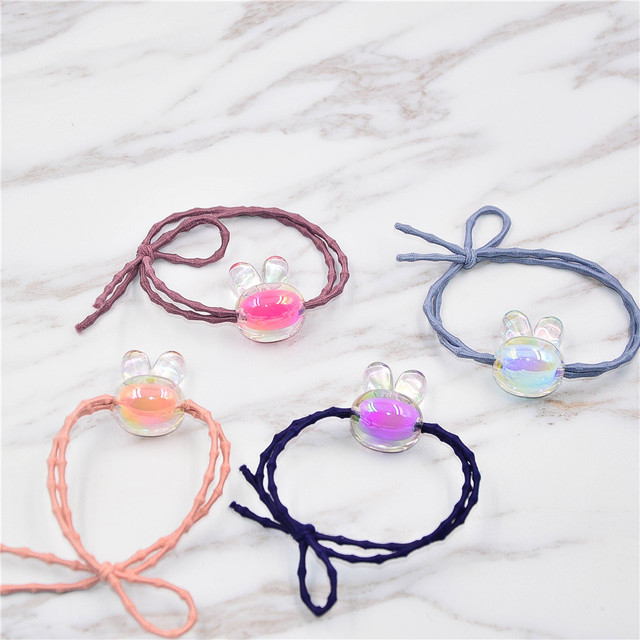 Fancyin 4Pcs lot Bunny Hair Accessories Hair Tiekids Girl Hair Bands High  Quality Rubber Bands 1af705d67c1