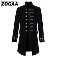 2019 Autumn Winter Men Coat Vintage Steampunk Tailcoat long Jacket Gothic button Trench coat male Retro Cool Uniform Costume