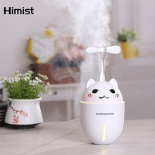 Cute Pet Humidifier Multi-Function Ultrasonic Air Freshner Car Humidificdor USB Aroma Essential Oil Diffuser With Mini Fan LED