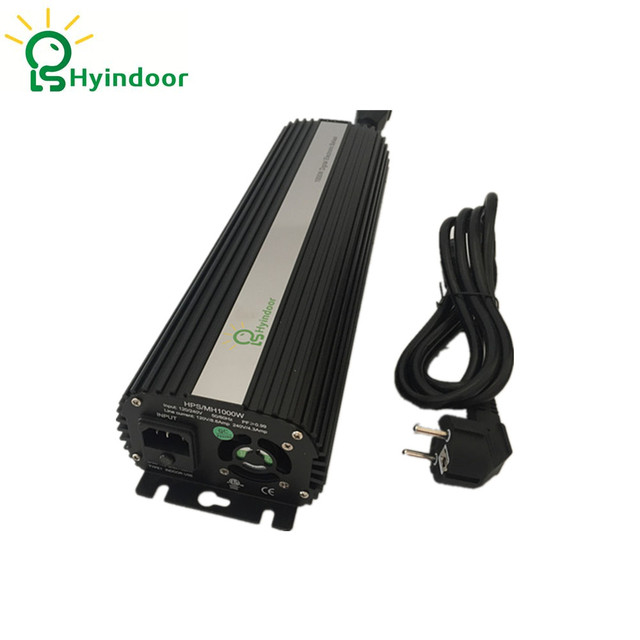 EU PLUG Hydroponic 1000W MH/HPS Dimmable Electronic Ballasts for Indoor Garden Grow Lights