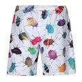 Mr.BaoLong&Miss.GO Summer luxury Fashion Men's Beach Pants Both sides printing Ladybug Beetle Short Pants