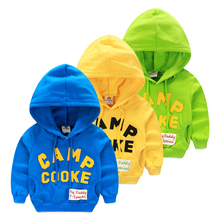 wt-6092 Alphabet sweater spring 2017 Korean model of the brand new boy youngsters youngsters Hooded Jacket tide