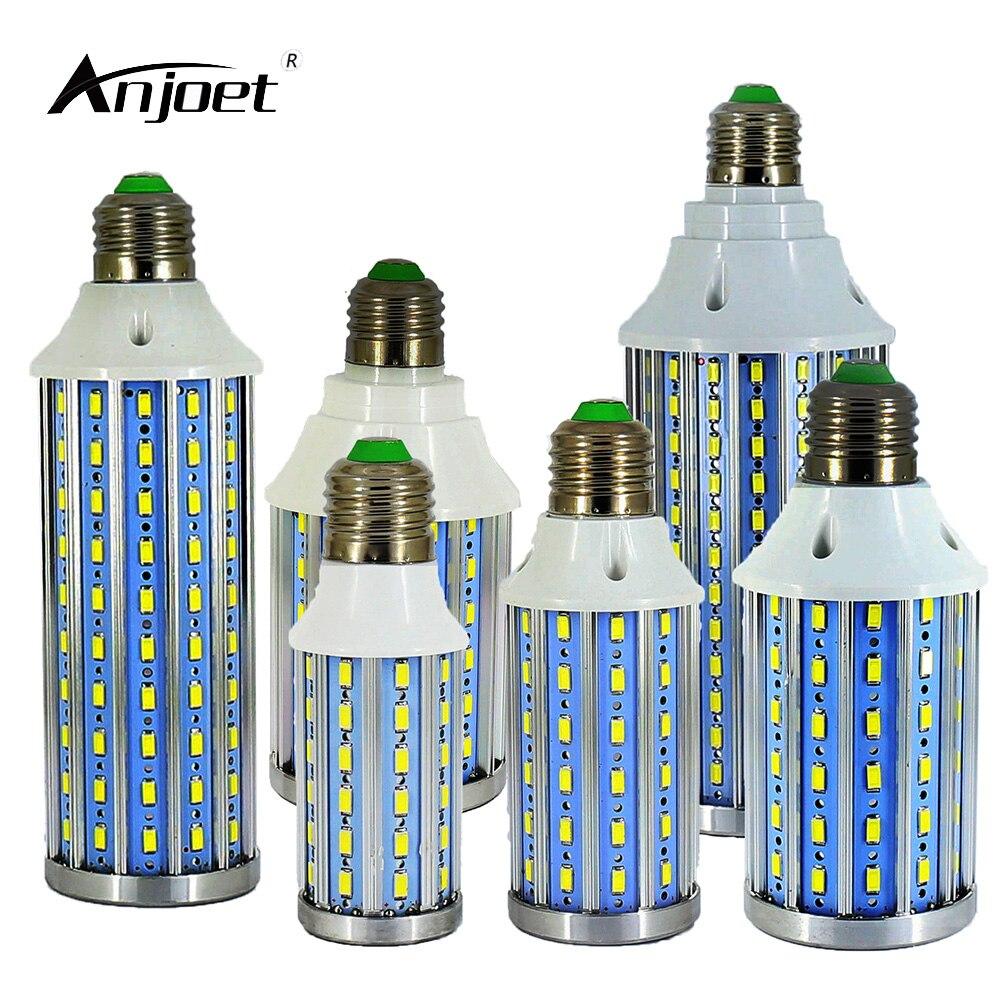 ANJOET 1Pcs New Update 10W 15W 20W 25W 30W 60W E27 E14 5730 SMD LED Bulb light 220V 110V Chandelier lighting LED Corn lamp new 10 1