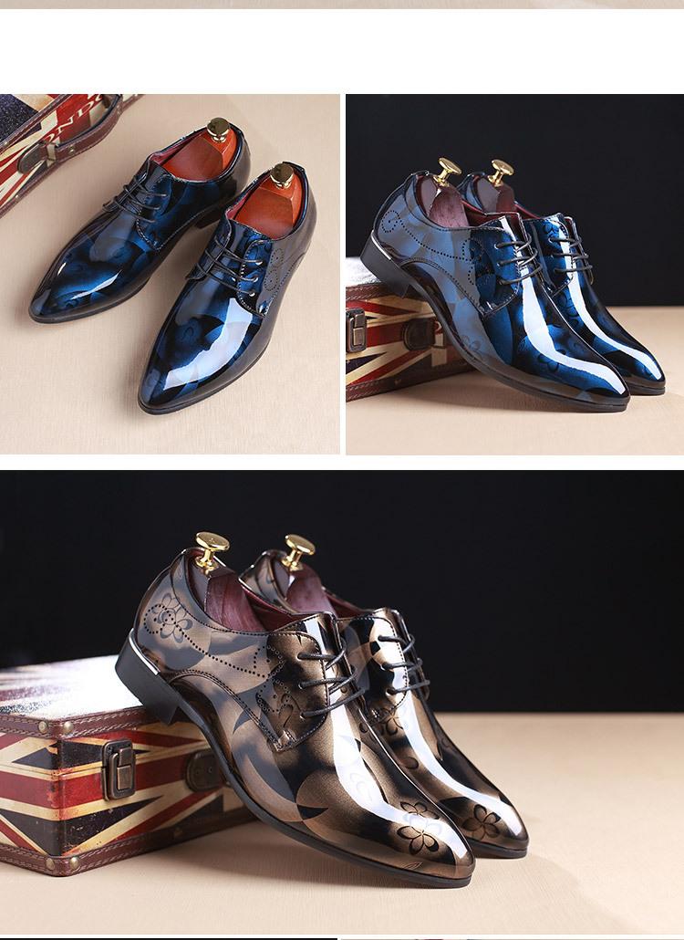 Souliers Chaussures Très Grande Classe En Cuir De Luxe Pour Affaires et Mariage