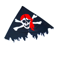 New Arrive Outdoor Fun Sports 2m Pirate Flag Kite With Handle Line Good Flying