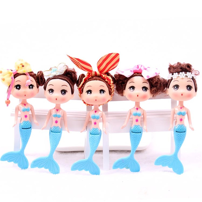 10pcs New style Fashion Swimming Mermaid baby dolls Cake baking mould silicone confused doll best gifts for girl birthday gift