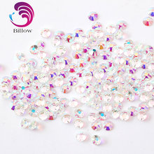 Mixed Sizes Transparent Stone SS3-SS20 Glass Clear AB Nail Rhinestones Flat  Crystal AB Non Hotfix For Nail Art Decoration B3390 61ced87e1132