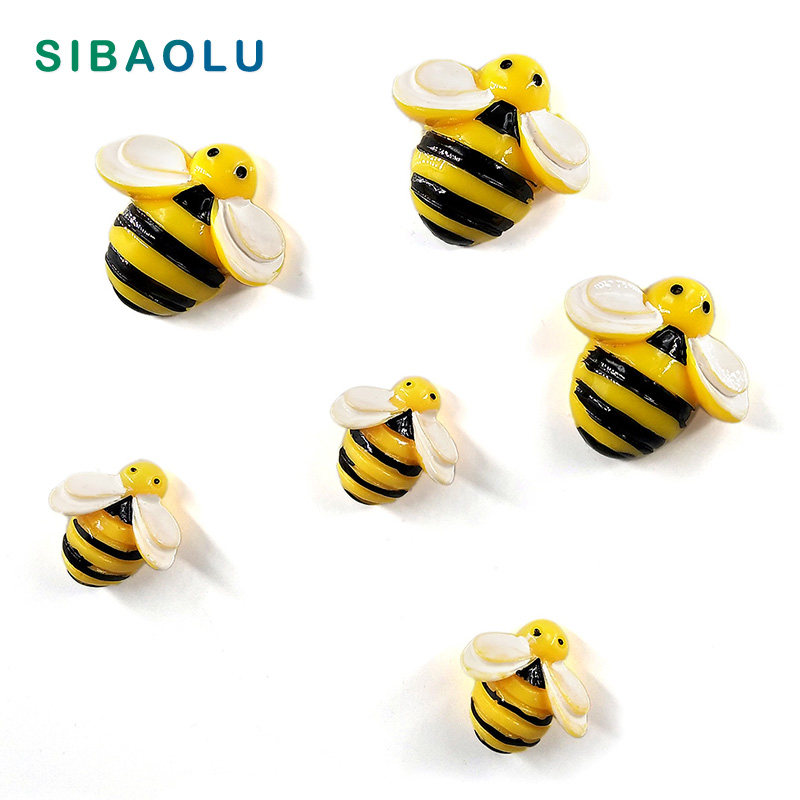 6pcs Bee Wasp Fridge Magnets Creative Cartoon Souvenir Refrigerators Magnetic Message Sticker Home Decor Kitchen Accessories