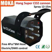 Супер повесить CO2 Jet пушки машина электронного управления спрей 8 10 м белый Холодный дым co2 струй