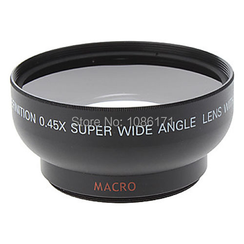 Free shipping Universal 49mm 0.45X Wide Angle Lens + High