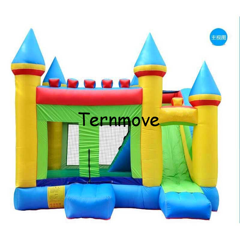 inflatable bouncy castle moonwalk pillow indoor slide inflatable castle jumping bouncer obstacle course funny jump castle inflatable bounce house inflatable slide castle with small pool pink indoor and outdoor palyground inflatable bouncer with slide