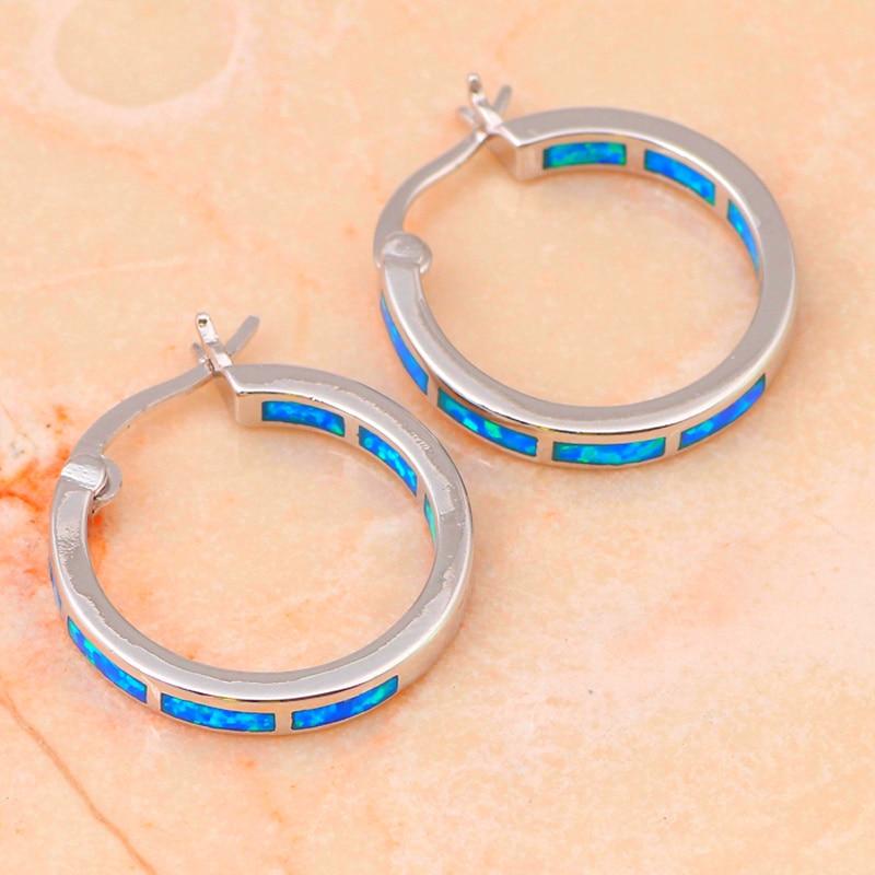 brincos engros super leverandør nye blå brand opal sølv stemplet - Mode smykker - Foto 5