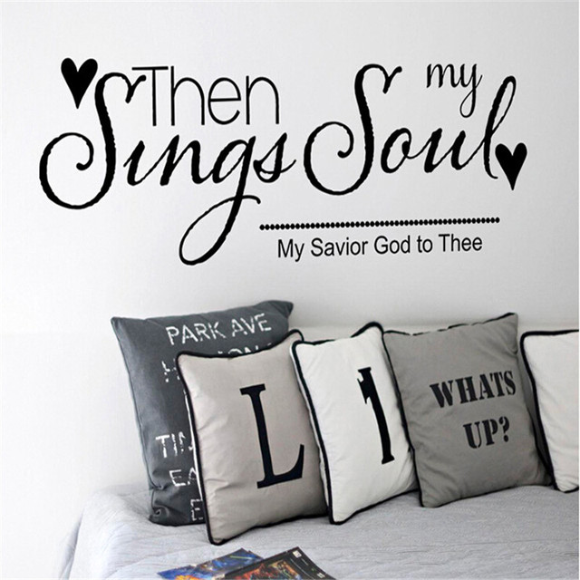 Sing My Song Text Pattern Wall Stickers Living Room Bedroom Children TV Sofa Background Decoration QB972461