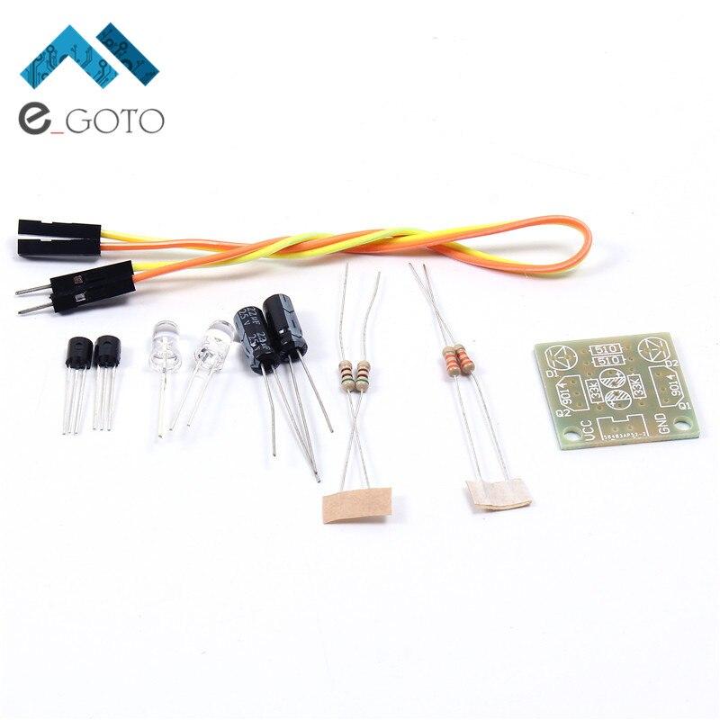 10 stücke DIY Kit Einfache Flash LED Licht Schaltung Einfache ...