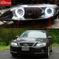 HochiTech WHITE 6000K CCFL Headlight Halo Angel Demon Eyes Kit Angel Eyes Light For Mazda6 Mazda