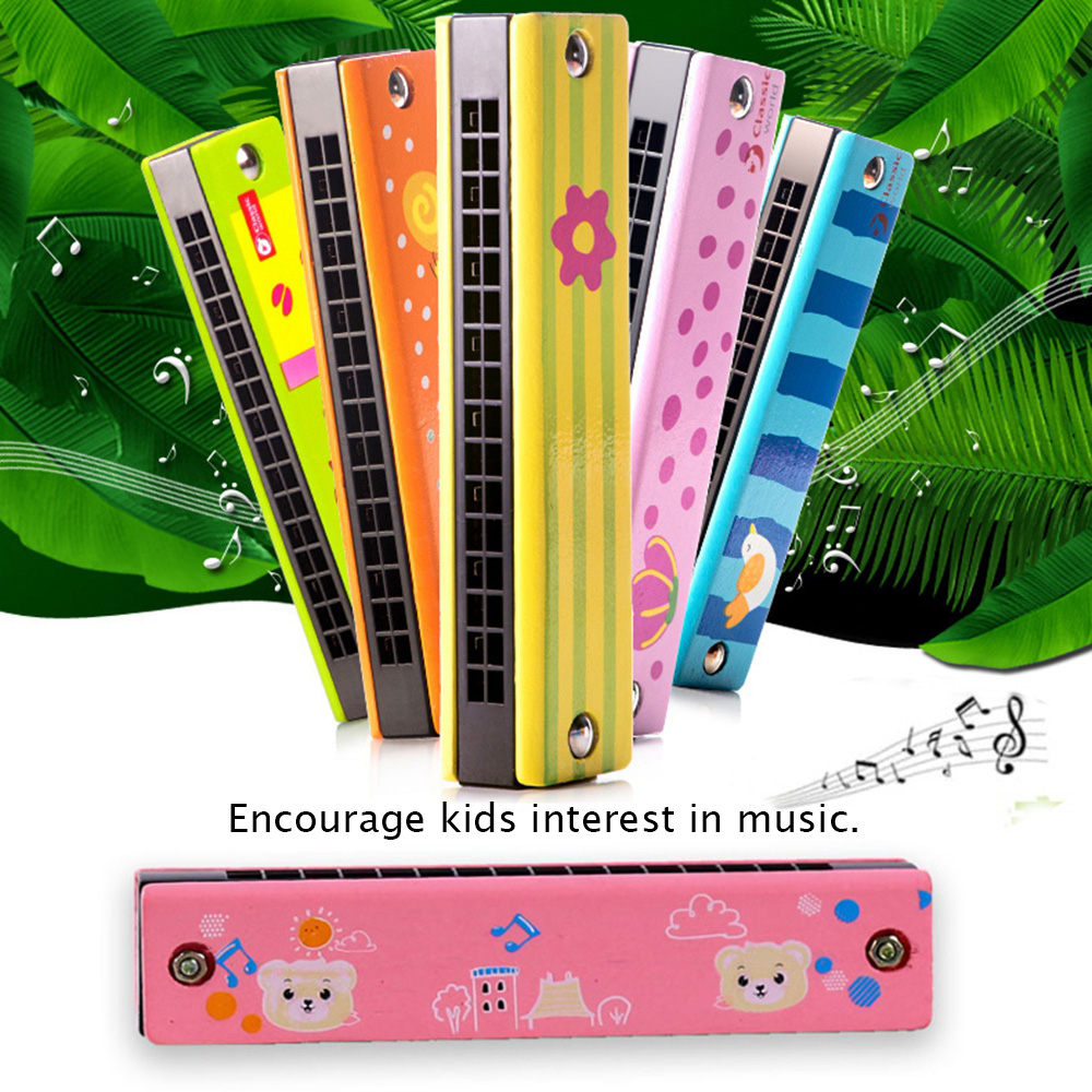 Learning & Education Toys & Hobbies Candid 1pc High Quality Wooden/metal Painted Harmonica Children Kids Musical Instrument Educational Music Toy For Children Random Color Always Buy Good