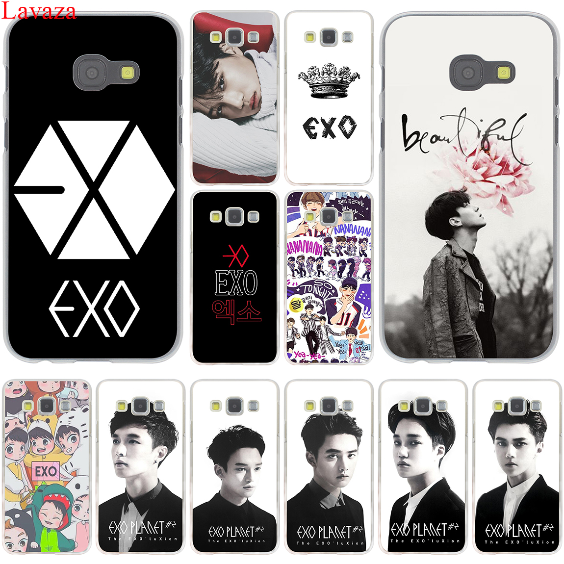 Lavaza Kpop exo Lucky one Hard Case Cover for Samsung Galaxy A3 A5 J3 J5 J7 2015 2016 2017