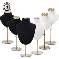 jewelry display jewelry stand necklace display stand linen cover white black color jewelry Ornaments