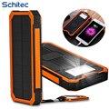 20000 mah carregador solar banco de potência novo portátil à prova d' água sol externo mais rápido carregador de bateria para telefone celular iphone haiwei