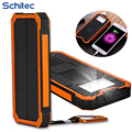 20000Mah Solar Charger Power Bank New Waterproof  Portable External Sun Faster Charger Cellphone Battery For IPhone haiwei