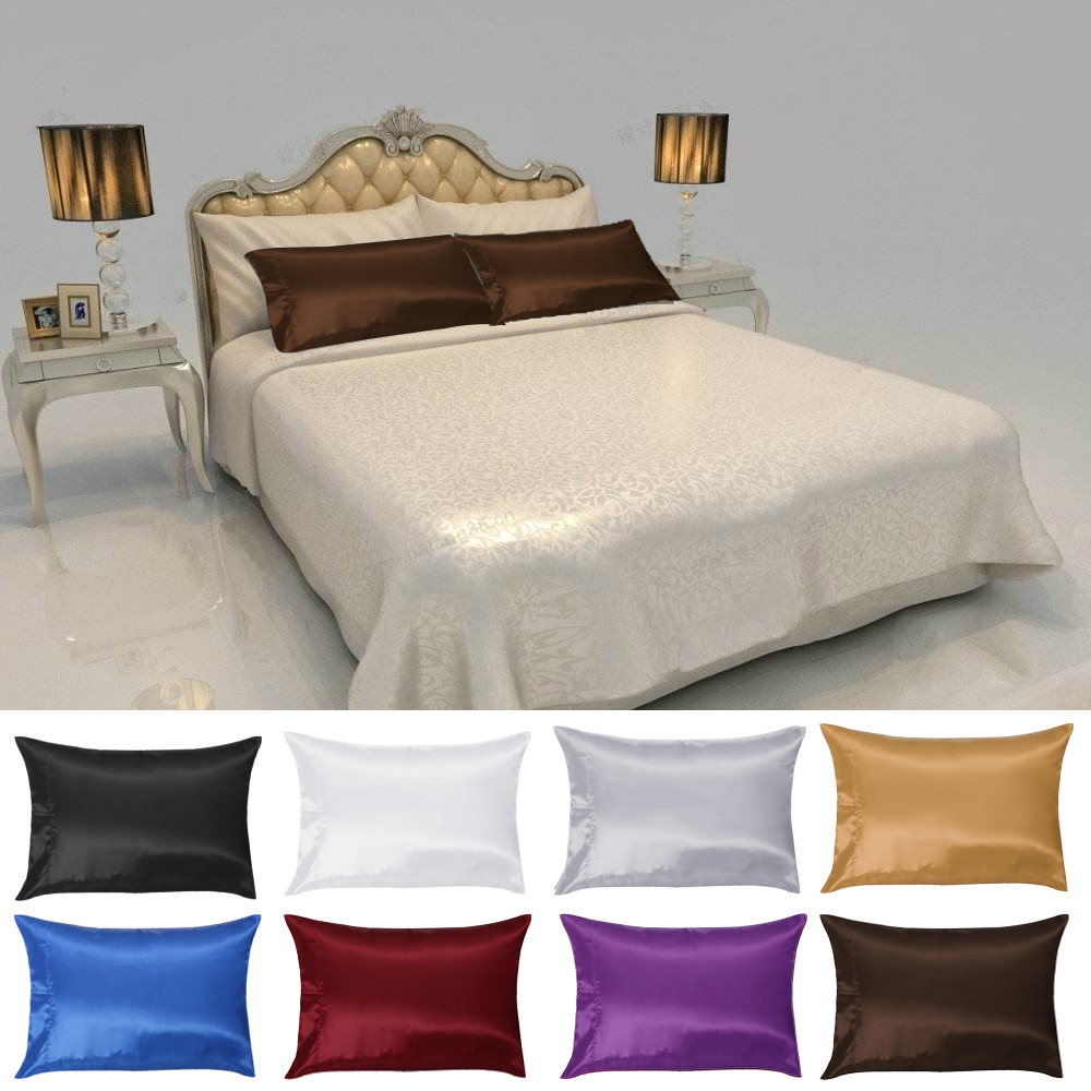 1 Pc 50 76cm Solid Color Soft Pure Mulberry Silk Pillow