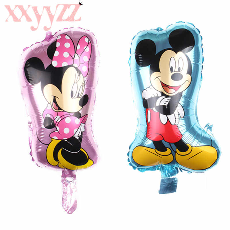 XXYYZZ 2020 1pcs Hot New Mini Minnie Mickey Aluminum Balloons Children Toy Party Birthday Decorative Balloon classic toys