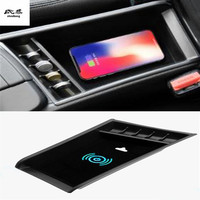 1lot Mobile phone wireless charging Central Armrest storage box for 2016 2018 BMW X1 F48