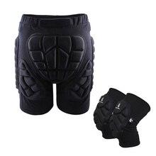Лыжные защитные набедренные мягкие шорты+ защитные наколенники катание на лыжах катание на сноуборде защита от ударов