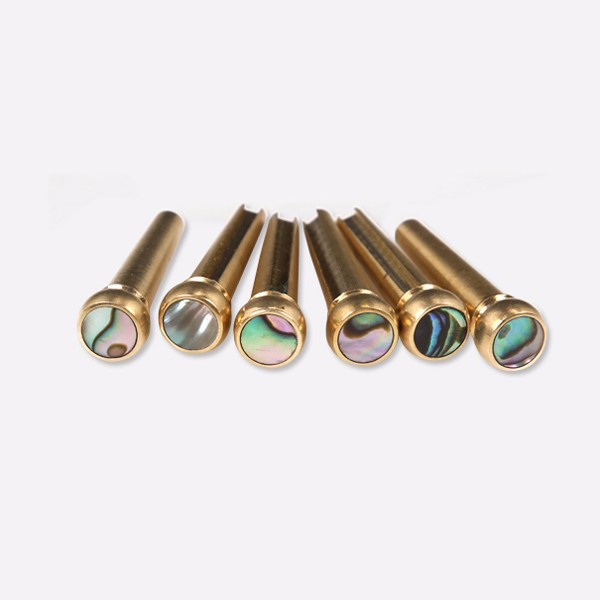 copper abalone guitar bridge bone pins set for acoustic guitar in guitar parts accessories. Black Bedroom Furniture Sets. Home Design Ideas
