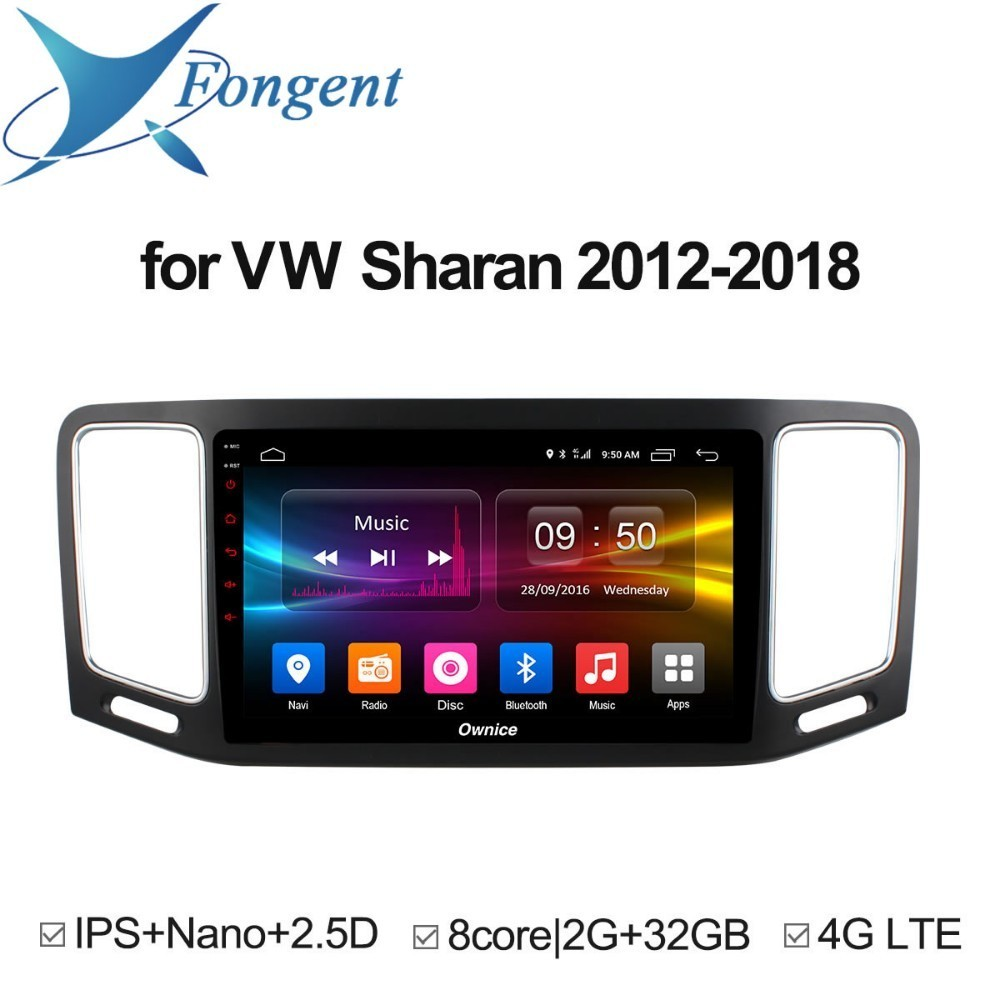For Volkswagen VW Sharan 2012 2013 2014 2015 2016 2017 2018 Car DVD Radio Multimedia Player GPS Navigator Stereo Android Unit 10 1 android car dvd multimedia player gps for nissan teana 2013 2014 2015 2016 altima car radio stereo navigator bluetooth