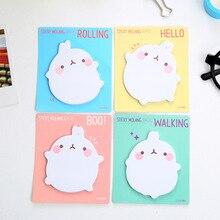 1Pack Cartoon Cute Korean Fat Rabbit Post It N Times Memo Pad Notebook Student Sticky School Label Gift E0073