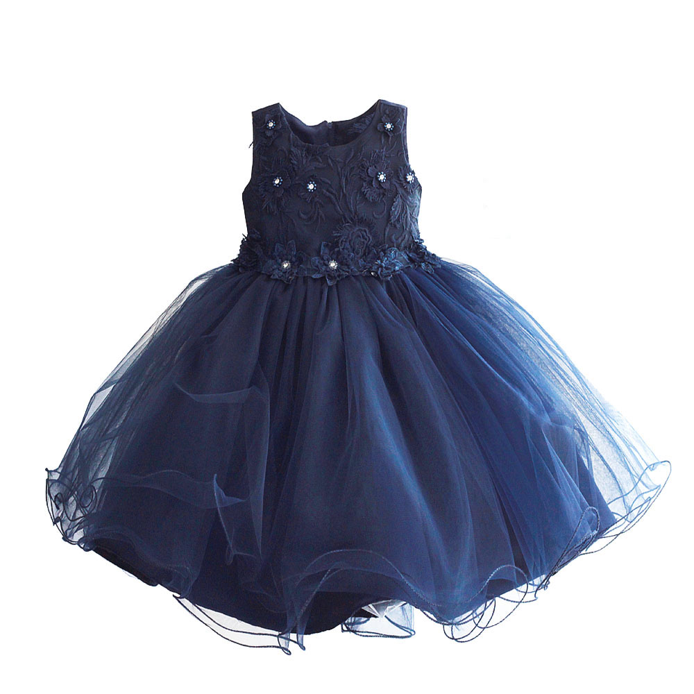 Lace Flower Girls Dress Pearl Blue Pink Wedding Pageant Summer Princess Party Dresses Kids Children Clothes Size 3-8T цены онлайн