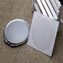 Компактное зеркало DIY наборы 65 мм компактное зеркало Пустой Карман складное зеркало с Эпоксидной Наклейкой дамское зеркало для макияжа 10 шт./лот