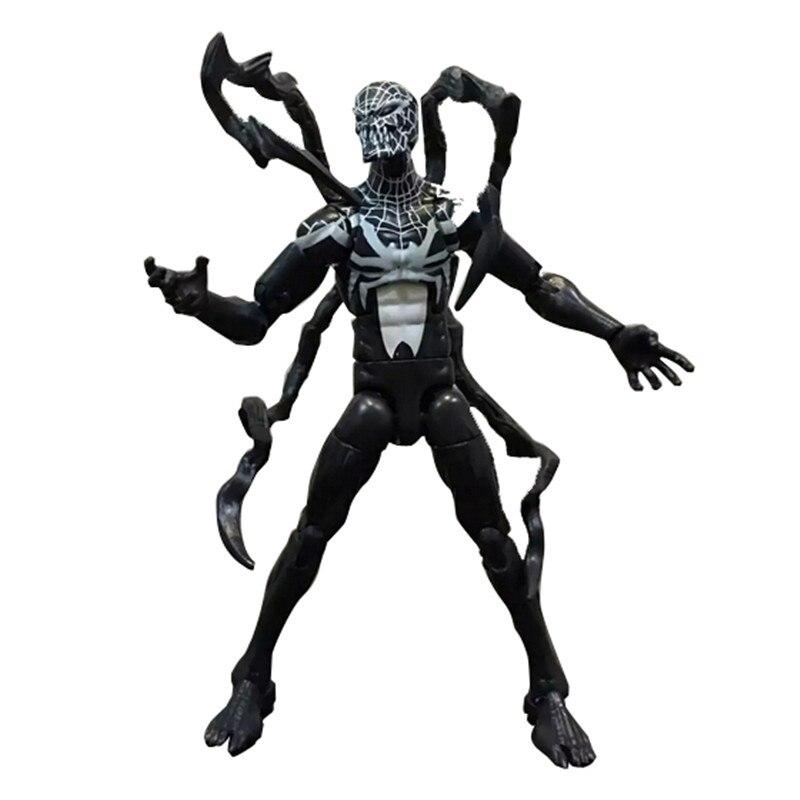 Marvel Legends Infinite Series Toy Pizza Spiderman Venom Iron MAN Super Hero Action Figure Model Toys Gift Dolls without box hot new 1pcs 20cm spider man venom pvc toy action figure toys dolls christmas gift opp bag