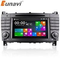 Eunavi Новый 2 Дин Dvd Playe для Benz C Class W203 C180 C200 C220 C230 C240 C250 C270 C280 C300 C320 C350 C32 Amg C55 C63