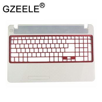 "GZEELE NEW for Gateway NV52L NV56R NV52L06U White 15.6"" Laptop Upper Case Palmrest Keyboard Bezel Cover"