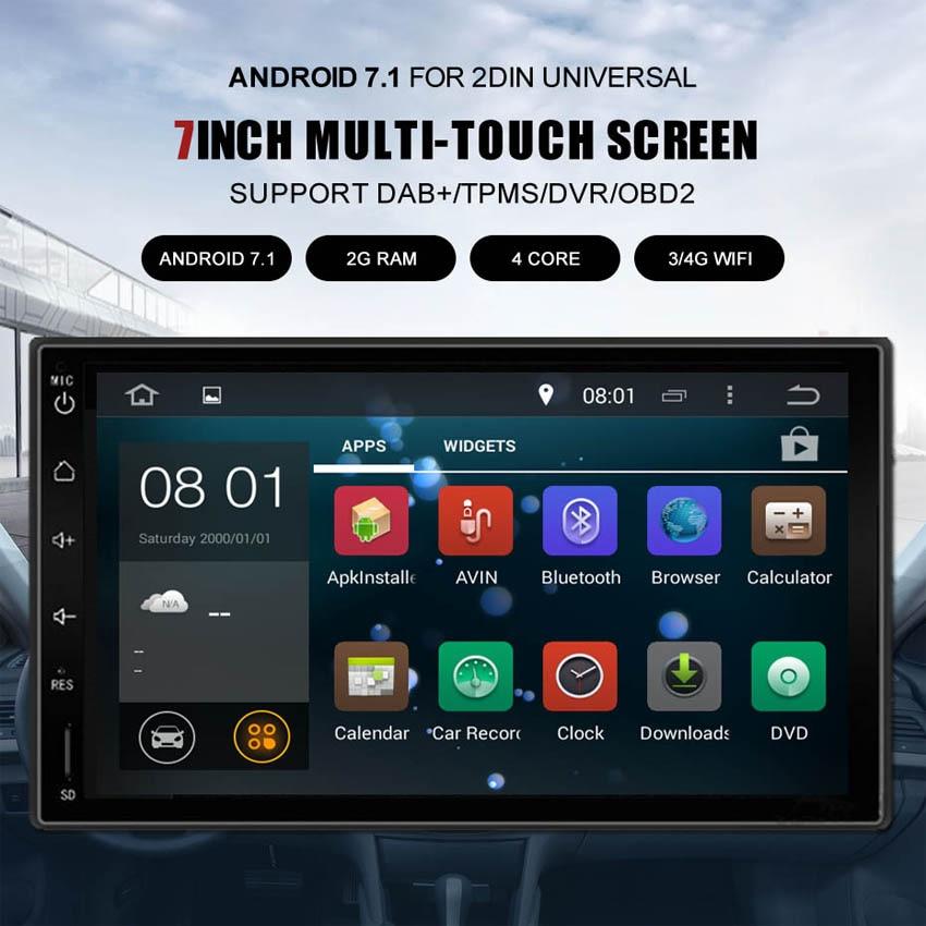 KANOR 7 2Din 1024*600 Android 7,1 автомобильный Планшетные ПК 2 din универсальный для Nissan gps навигации BT Радио стерео аудио плеер (нет DVD)