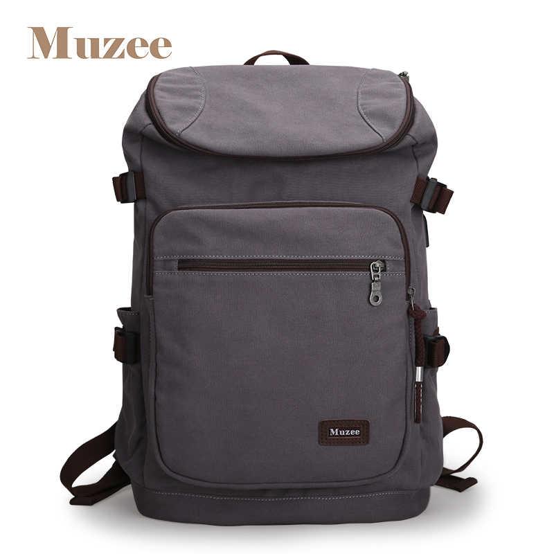 73f96f9cfbf7 Mezee 2019 Новый Мужской USB рюкзак холст путешествия рюкзак Мода большой  емкости сумка для мужчин повседневный