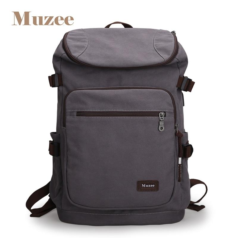 Mezee 2019 nouveaux hommes USB sac à dos toile voyage sac à dos mode grande capacité sac pour hommes casual sac à dos pour 15.6 ''ordinateur portable