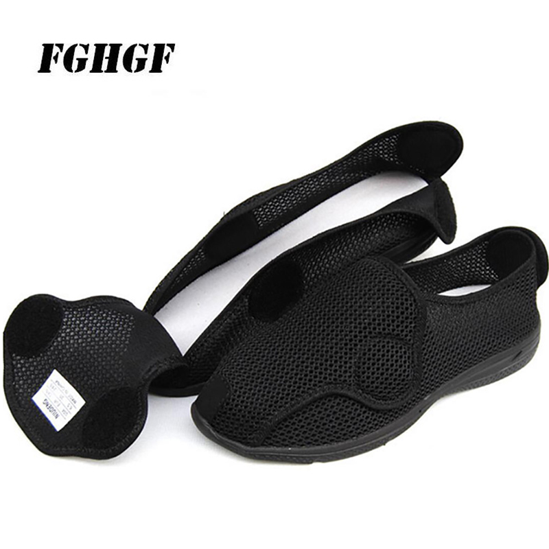 Male Vulcanized Shoes Keep Warm Postoperative Recovery Comfortable Wear Short Plush Cotton Fabric Male Vulcanized Shoes