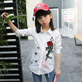 2017 New Teenage Girls Blouses Shirts for Girl Children Clothing Students White Blouses Spring Kids Clothes 4 6 8 10 12 14 Years