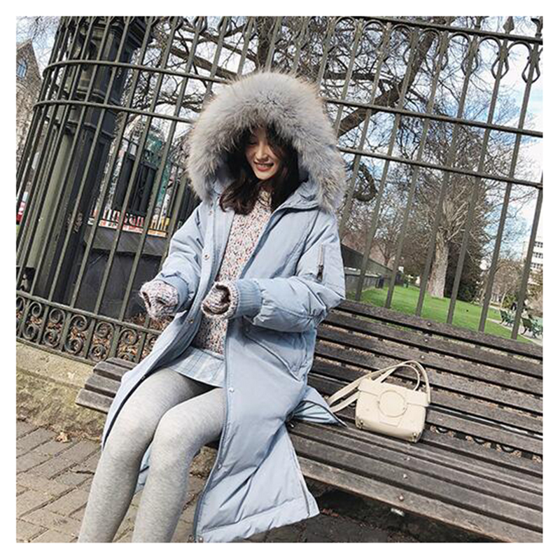 Mishow 2018 Winter women mid-long Down Coats Causual Warm thicken Loose down coat  MX18D8830