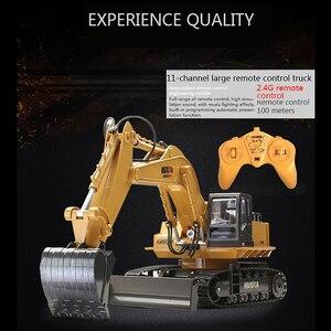 Image 3 - Huina 510 ワイヤレスリモコン合金ショベルシミュレーション子供充電電気おもちゃの掘削エンジニアリング車両モデル