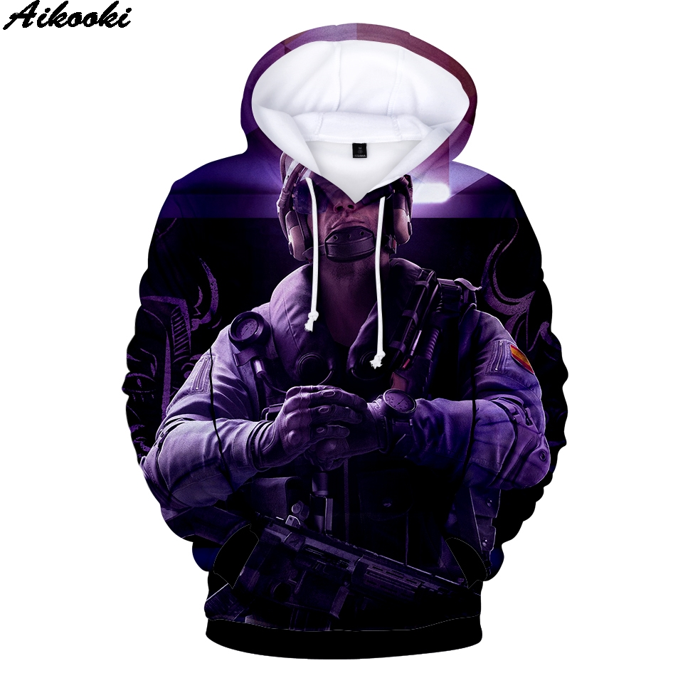 Aikooki 3d Print Hoodies Men Women Rainbow Six Siege Hot Game