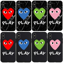 Mother Patten Play Heart Cute High Quality Black TPU Soft Case for iPhone 5 5s SE 6 6s 7 8Plus X Xs Max XR Phone Cover Coque(China)