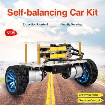 Keyestudio Self-balancing Car Kit For Arduino Robot/STEM Kits Toys for Kids /Christmas Gift two wheeled balancing car uno r3 two wheeled self balancing car kit